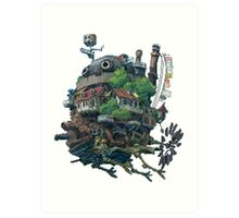 8bit Howl's Moving Castle Art Print
