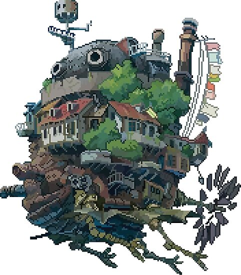 8bit Howl's Moving Castle by ZoeTwoDots