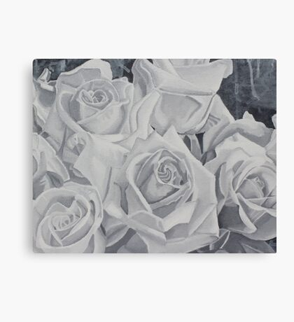 Gray Roses Canvas Print