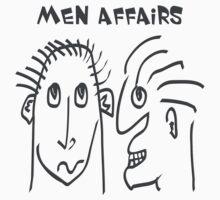 Men Affairs - mate, friends, funny,  men talking Kids Tee