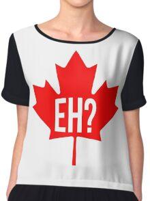 Canadian, eh? Chiffon Top