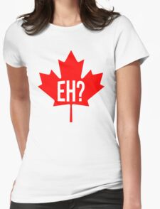 Canadian, eh? Womens Fitted T-Shirt