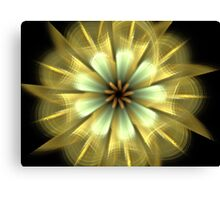 Gold Star Petals Canvas Print