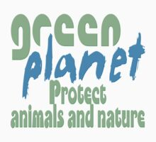 green planet - protect animals and nature Baby Tee