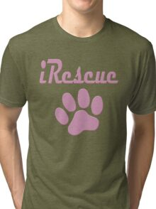 iRescue - animal cruelty, vegan, activist, abuse Tri-blend T-Shirt