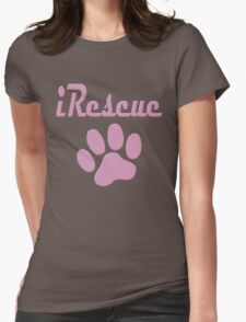 iRescue - animal cruelty, vegan, activist, abuse Womens Fitted T-Shirt