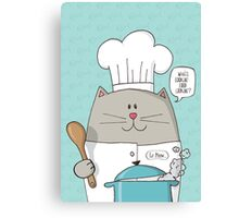 Cat Top Chef Canvas Print
