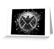 S.H.I.E.L.D Emblem (black background) Greeting Card