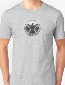 S.H.I.E.L.D Emblem (black background) Unisex T-Shirt