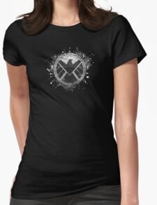 S.H.I.E.L.D Emblem (black background) Womens Fitted T-Shirt