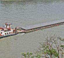 Barge, Danube River near Durnstein, Austria Sticker