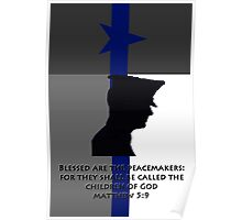 Blessed are the Peacemakers Texas Poster
