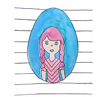 The Girl with Red Hair Photographic Print