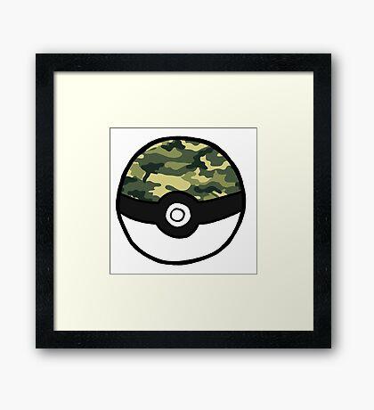 Camo Pokeball Framed Print