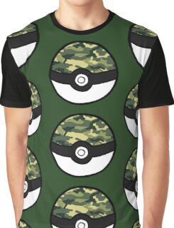 Camo Pokeball Graphic T-Shirt