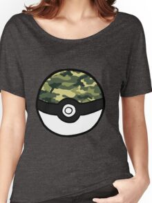 Camo Pokeball Women's Relaxed Fit T-Shirt