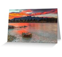 Scarlet Sunrise - Queenstown New Zeland Greeting Card