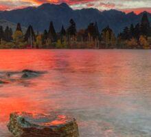 Scarlet Sunrise - Queenstown New Zeland Sticker