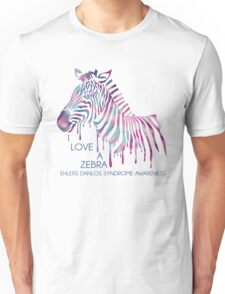 I Love A Zebra (EDS Awareness) Unisex T-Shirt