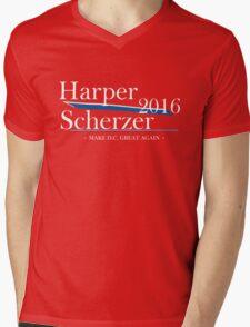 Harper Scherzer 2016 Mens V-Neck T-Shirt