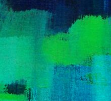Blue and green abstract Sticker