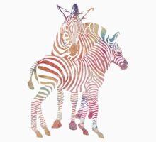 Colourful Zebras Kids Tee