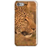 Leopard on the hunt iPhone Case/Skin