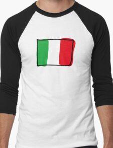 Flag of Italy Men's Baseball ¾ T-Shirt