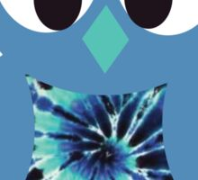 Blue Tie Dye Owl Sticker