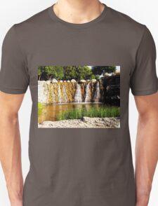 Rocky Falls, Photo / Digital Painting  Unisex T-Shirt
