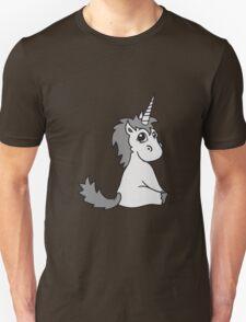 unicorn unicorn foal sweet cute sitting comic cartoon pony horse pferdchen kawaii child girl baby T-Shirt