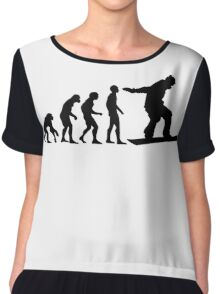 Snowboard Evolution Chiffon Top
