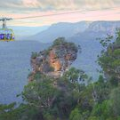 Orphan Rock With Scenic Skycar by Michael Matthews