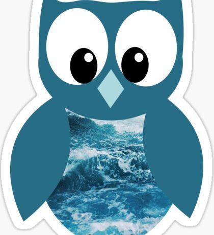 Ocean Owl Sticker