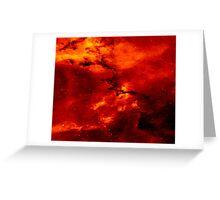 Solar Red Dust Art Print Greeting Card