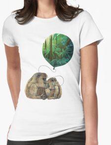 Balloon Monkey dream Womens Fitted T-Shirt