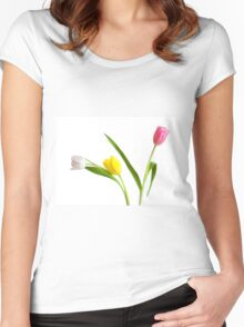 Colorful Tulips Women's Fitted Scoop T-Shirt