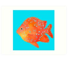 Spotted Tropical Fish painting Art Print