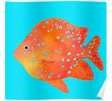 Spotted Tropical Fish painting Poster