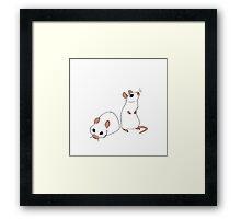 Two White Mice Framed Print