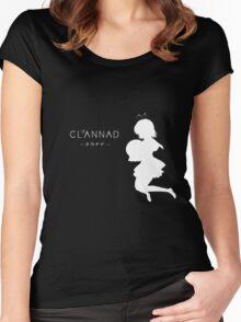 CLANNAD - Furukawa Nagisa (White Edition) Women's Fitted Scoop T-Shirt