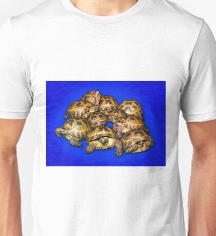 Greek Tortoise Group - Dark Blue Unisex T-Shirt
