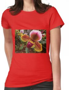 Ladyslipper Orchid Flower Womens Fitted T-Shirt