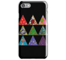 Vintage Fabric Patchwork in Bright Colours iPhone Case/Skin