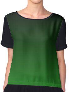 Green Gradient Chiffon Top
