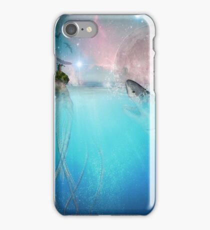 the marvelous adventures of octo and shark iPhone Case/Skin