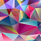 Abstract Colorful Diamonds Geometric Background Pattern by CroDesign