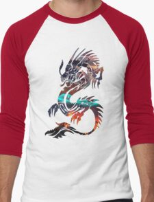 Dragon Picture Fill Men's Baseball ¾ T-Shirt