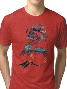 Dragon Picture Fill Tri-blend T-Shirt