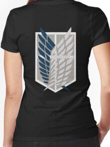 AOT Scout Symbol Women's Fitted V-Neck T-Shirt